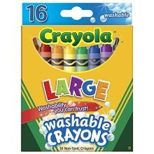 CRAYOLA LLC CRAYOLA WASHABLE CRAYONS 16CT LARGE (Set of 6)