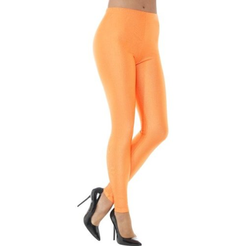 Smiffy's 48112m 80's Disco Spandex Legging (medium) - Ladies 80s Leggings -  ladies 80s disco spandex leggings womens neon fancy dress costume adults