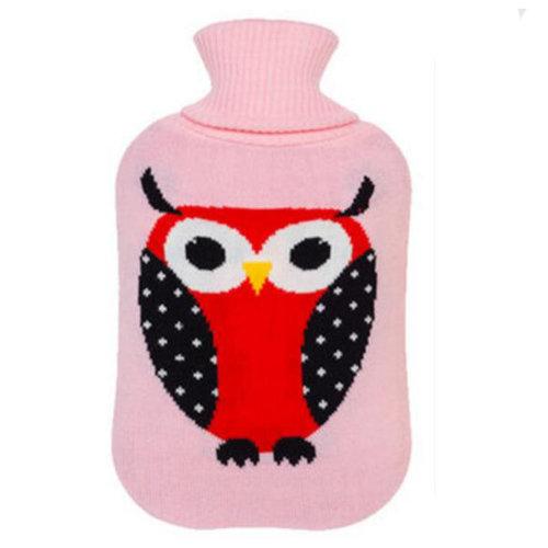 2LWarm Cute Hot-Water Bottle Water Bag Water Injection Handwarmer Pocket Cozy Comfort,C