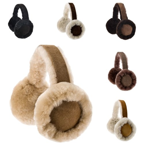 Nordvek Sheepskin Earmuffs Women - Comfortable and Warm # 506-100