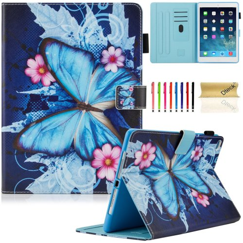 New iPad 9.7 inch 2017 Case / iPad Air Case / iPad Air 2 Case, Dteck Folio Smart Cover [Auto Sleep Wake] Shockproof Stand Wallet Case for New iPad...