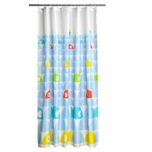 12 Hook Fish Design Shower Curtain