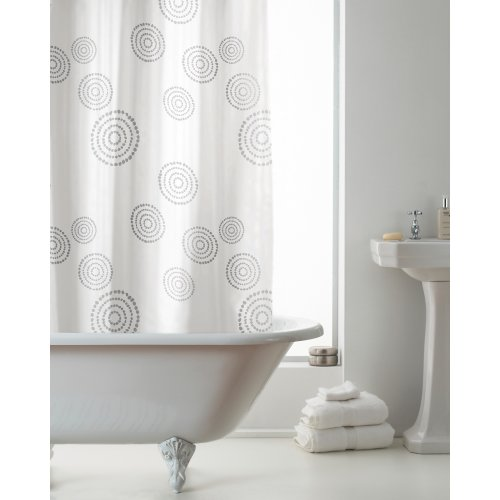 Country Club Hookless Shower Curtain, Echo