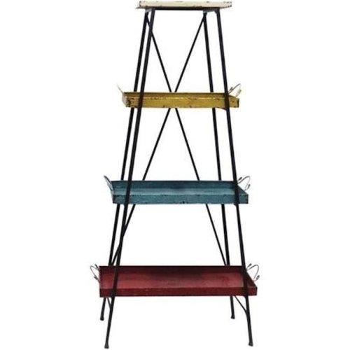 Manual Woodworkers & Weavers IMMT4T 28.5 x 13 x 55.25 in. Metal 4 Tier Tray Shelf