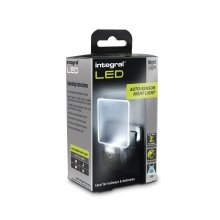 Integral Plug In LED Night Light Auto Sensor Super Low Energy