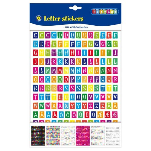 Pbx2471267 - Playbox - Letter Stickers Coloured 1100pcs