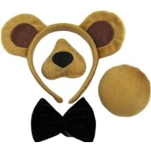 Bear Set (ears, Nose, Tail + Bow Tie