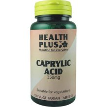 Health Plus Caprylic Acid 350mg 100 Vtabs  to Help Keep the Gut Free of Yeast