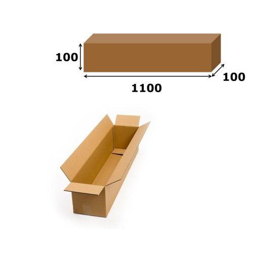 10x Postal Cardboard Box Long Mailing Shipping Carton 1100x100x100mm Brown
