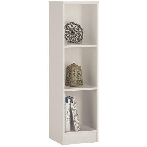 Sheek Danish Made Medium Narrow Bookcase - Pearl White - 2 Shelf