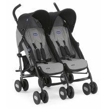 Chicco Echo Twin Stroller in Coal