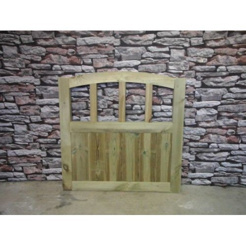 Dome Slatted Gate 4ft High (Buying Total Width)