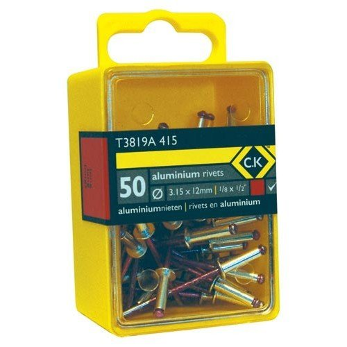 CK T3819A 612 Pop Rivets Aluminium 4.8x9mm Box Of 40