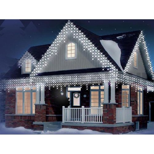 720 LED White Christmas Icicle Snowing Xmas Lights Party Outdoor