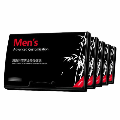 Men Bamboo Charcoal Summer Oil Absorbing Paper, 500 Sheets