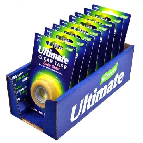 Ultratape Ultimate Very Easytear Clear Tape (8 pack)