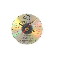 CD Clock 40th Years Old