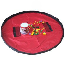 Baby Kids Play Floor Mat Toy Storage Bag  Quickly Easily Folds Up,red