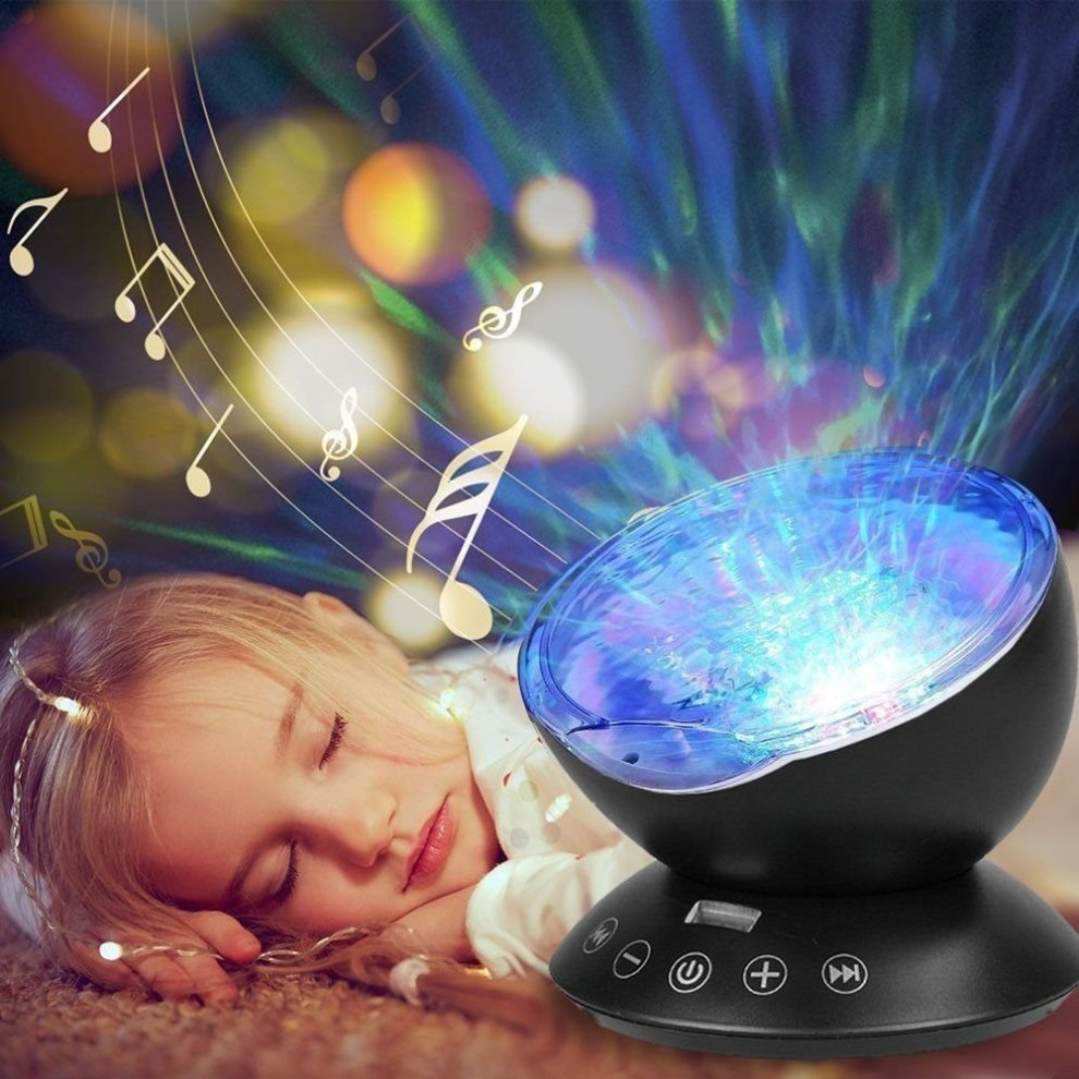 Loyal Remote Control Multicolor Ocean Wave Projector Nightlight Baby Lamp With Mini Music Player Fit For Any Holiday Party Decorations Access Control