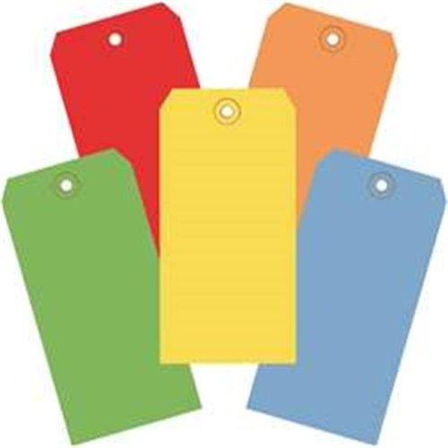 Box Partners G21001 6.25 x 3.12 in. Assorted Color 13 Point Shipping Tags - Pack of 1000