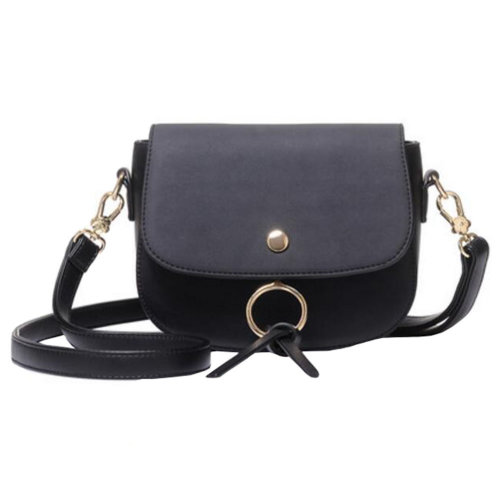 Retro Style Purse Bag Single Shoulder Strap Bag friend Birthday Gift Leisure Cute Small Bag,  Black