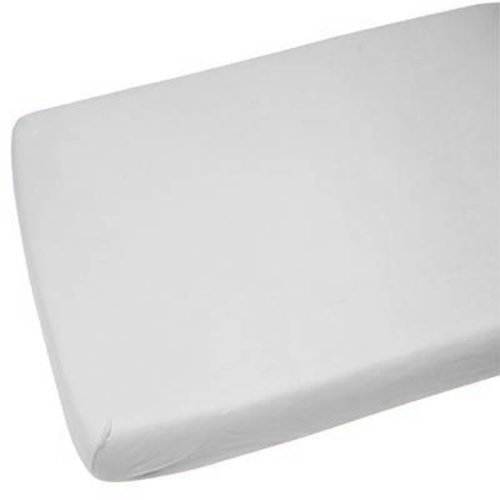 1x Jersey Fitted Sheet 100% Cotton Cot Bed 70x140cm Light Grey