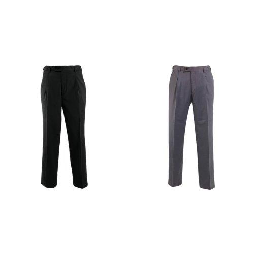 Alexandra Mens Icona Single Pleat Formal Work Suit Trousers