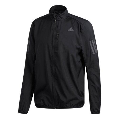 adidas Own The Run Mens Water Repellant Running Jacket Coat Black