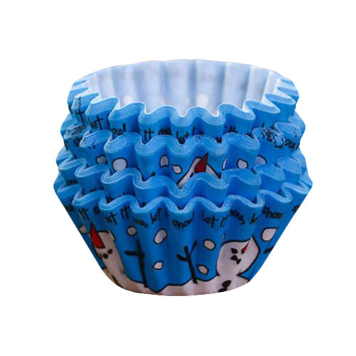 Baking Cups for Cupcakes Mini Cupcake Wrapper Maffin Cup 100 PCS-Blue