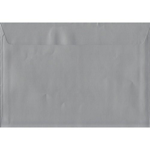 Metallic Silver Peel/Seal C4/A4 Coloured Silver Envelopes. 130gsm Luxury FSC Certified Paper. 229mm x 324mm. Wallet Style Envelope.