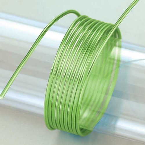 Efco 2 mm x 5 m 42 g Approximately Aluminium Anodised Wire, Light Green