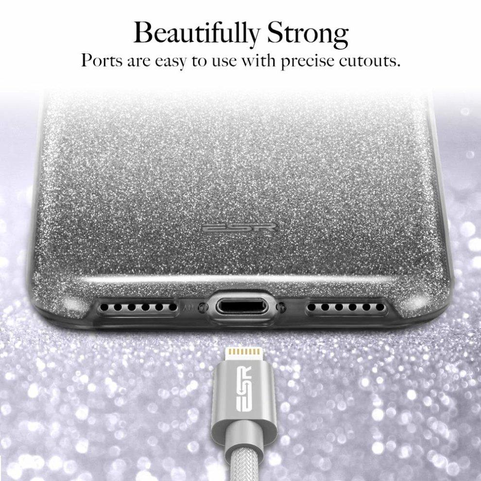 11a7e393fb ... ESR iPhone X Case, Makeup Luxury Glitter Case Sparkle Bling Designer  Cover[Three Layer ...