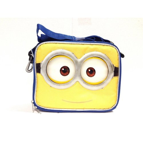 Lunch Bag - Despicable Me - Minions Face Jerry 3D Eyes Kit Case New 122502
