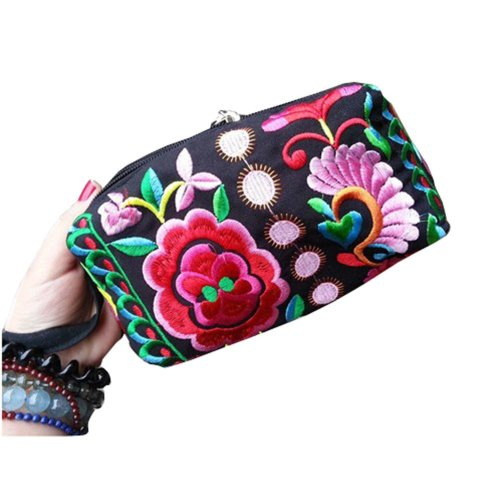 Ethnic Style Needlecrafts Handmade Embroidery, Purse & Hand bag & Purse(D)
