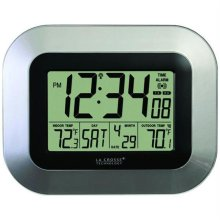 La Crosse Technology Ws-8115U-S Atomic Digital Wall Clock With Indoor & Outdoor Temperature
