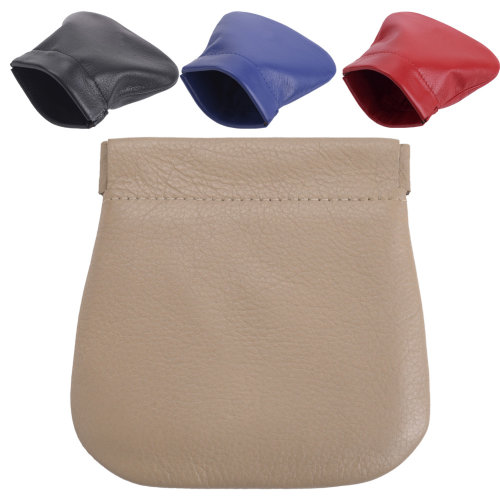 Lambland Genuine Super Soft Leather Pinch / Snap Top Coin Purse
