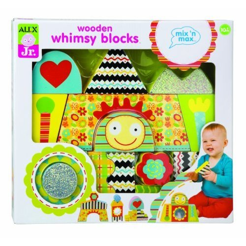 ALEX Toys ALEX Jr. Wooden Whimsy Blocks Baby Wooden Developmental Toy