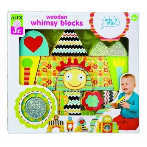 ALEX Toys ALEX Jr. Wooden Whimsy Blocks Baby Wooden Developmental Toy