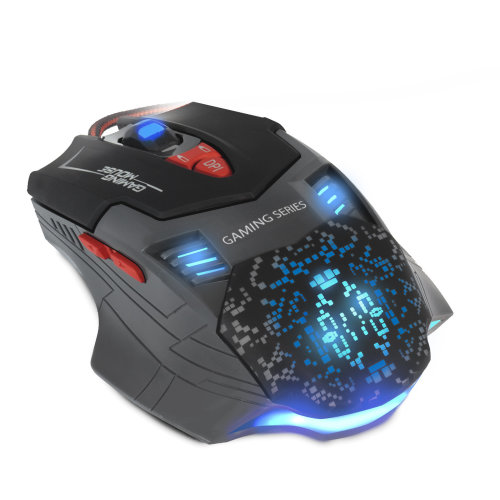 Nemesis Panzer Programmable Macro PC Optical Gaming Mouse USB Wired 7 Button/LED Lights