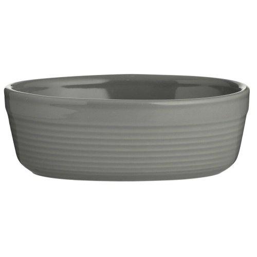 Mason Cash 2002.091 William Mason 17cm Grey Oval Dish, Stoneware