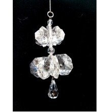 Cut Crystal Cascade Suncatcher Window Ornament