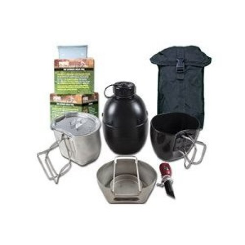 BCB CN004SB Crusader Cooking System Silver 8 Piece Black Pouch