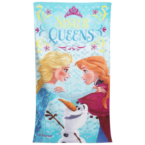 Disney Frozen Childrens Girls Sister Queens Printed Beach Towel