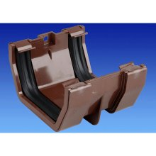 Wavin OSMA Squareline Jointing Bracket 100mm Brown 4T805n
