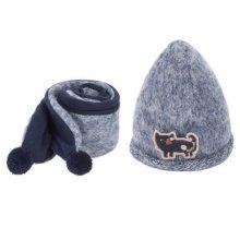 Kids Boys Girls Keep Warm Head Cap Lovely Hats Winter Wool Hat & Scarf -A1