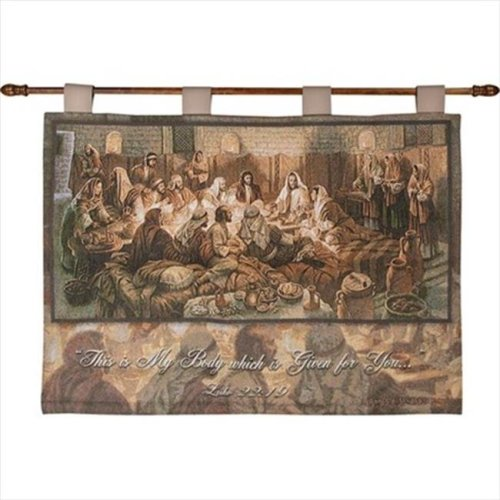 Manual Woodworkers and Weavers HWTSBO This Is My Body Tapestry Wall Hanging Horizontal 36 X 26 in.