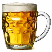 9d0b6ea812e1 bar drinkstuff The Great British Pint Dimple Mug - Set of 4 - Gift Boxed  Glass Tankards