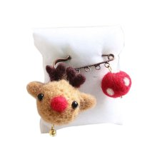 Cute Cartoon Animal Wool Felt Brooch Pin Clothing Accessories, Deer