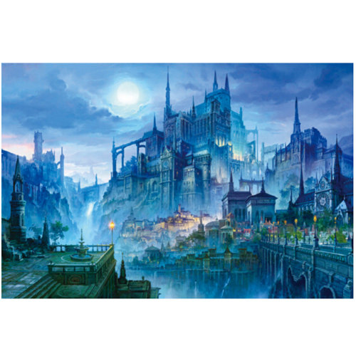 Night of Castle, Fashionable Wooden Puzzle For Adult 1000 Piece Jigsaw Puzzle
