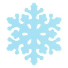Set of 4 Beautiful Blue Snowflake Pot Holders Insulation Mats Place Mats